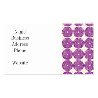 Pretty Purple Lilac Circles Disks Textured Buttons Business Cards