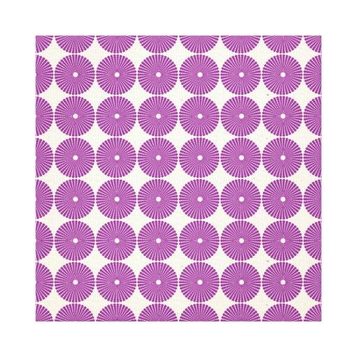 Pretty Purple Lilac Circles Disks Textured Buttons Stretched Canvas Prints