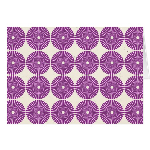 Pretty Purple Lilac Circles Disks Textured Buttons Greeting Cards