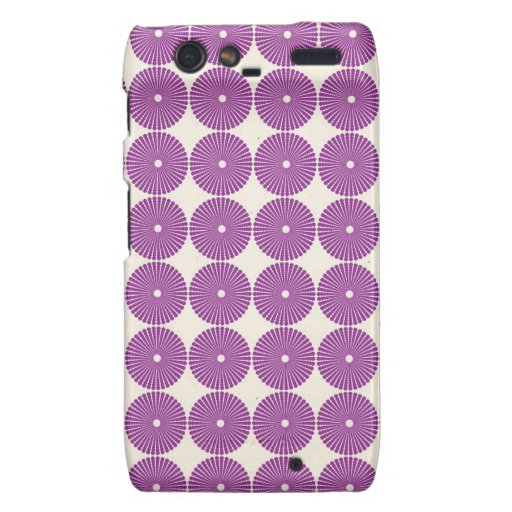Pretty Purple Lilac Circles Disks Textured Buttons Droid RAZR Case