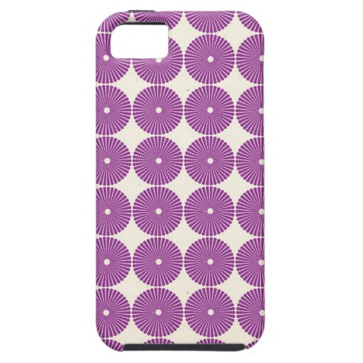Pretty Purple Lilac Circles Disks Textured Buttons iPhone 5 Cover