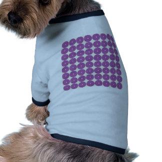 Pretty Purple Lilac Circles Disks Textured Buttons Doggie T Shirt