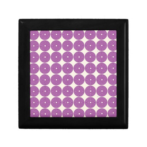 Pretty Purple Lilac Circles Disks Textured Buttons Trinket Boxes