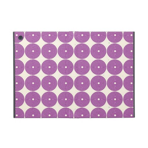 Pretty Purple Lilac Circles Disks Textured Buttons iPad Mini Covers