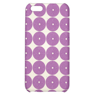 Pretty Purple Lilac Circles Disks Textured Buttons iPhone 5C Cover
