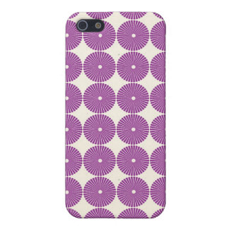 Pretty Purple Lilac Circles Disks Textured Buttons iPhone 5 Cases