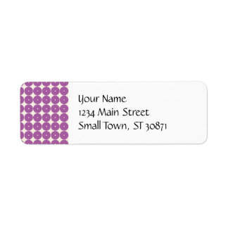 Pretty Purple Lilac Circles Disks Textured Buttons Return Address Label