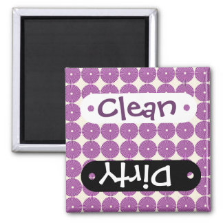 Pretty Purple Lilac Circles Disks Textured Buttons Refrigerator Magnet