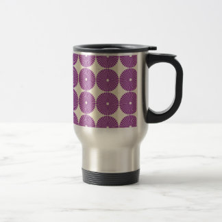 Pretty Purple Lilac Circles Disks Textured Buttons Mugs