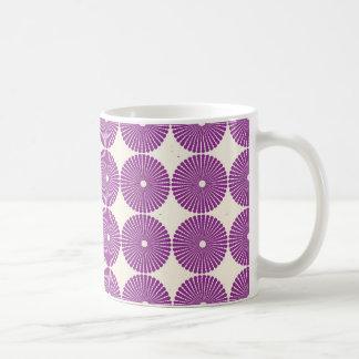 Pretty Purple Lilac Circles Disks Textured Buttons Coffee Mug