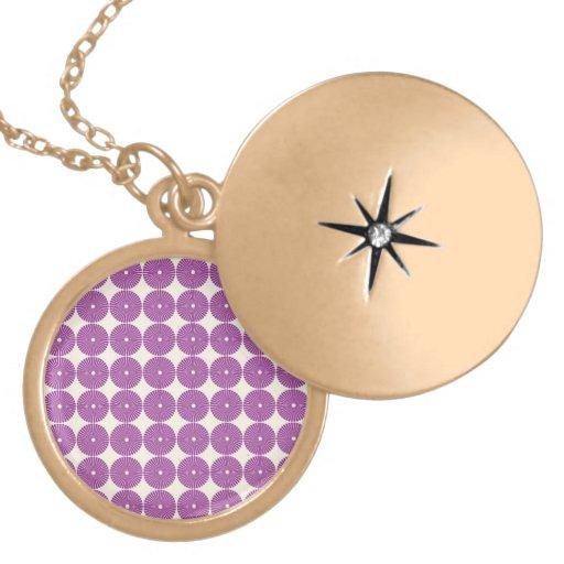 Pretty Purple Lilac Circles Disks Textured Buttons Pendants