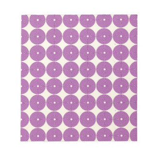 Pretty Purple Lilac Circles Disks Textured Buttons Note Pad