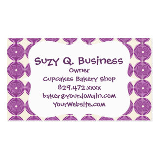 Pretty Purple Lilac Circles Disks Textured Buttons Pack Of Standard Business Cards