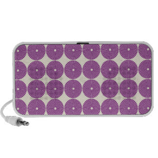 Pretty Purple Lilac Circles Disks Textured Buttons Notebook Speakers