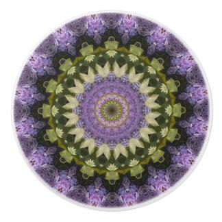 Pretty Purple Lilac Mandala Ceramic Knob