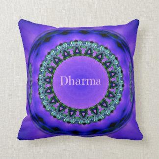 Pretty Purple Marble Dharma Life Truths Cushion