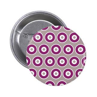 Pretty Purple Mauve Concentric Circles Pattern Pins