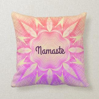 Pretty purple Namaste Cushion