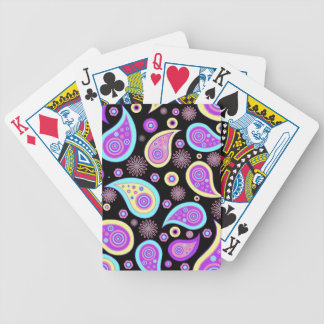 Pretty Purple Paisley (dark) Bicycle Playing Cards