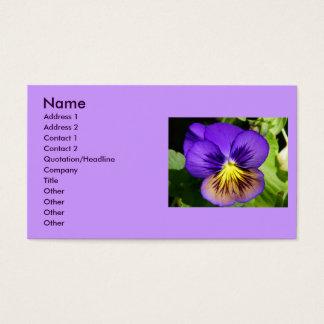 Pretty Purple Pansy Profile Cards