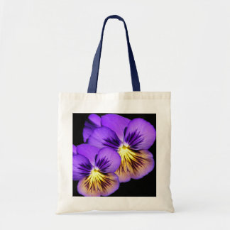 Pretty Purple Pansy Tote Bag