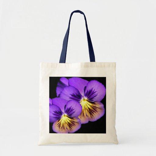 Pretty Purple Pansy Tote Bag