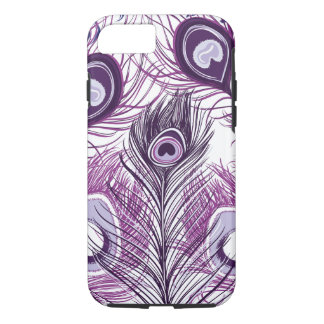 Pretty Purple Peacock Feathers iPhone 7 Case
