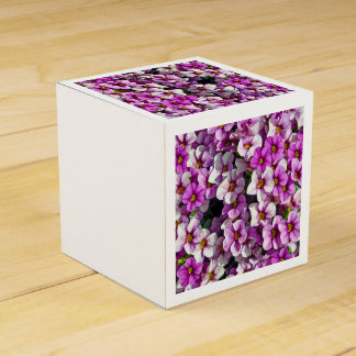 Pretty purple petunias favour box