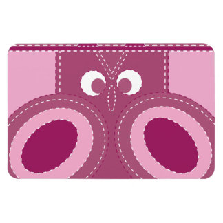 Pretty Purple Pink Owl Stitched Look Pattern Flexible Magnet