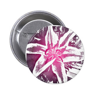 Pretty Purple Pink Watercolor Flower Art Pinback Buttons