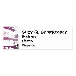 Pretty Purple Pink Watercolor Flower Art Business Cards