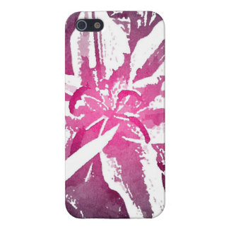 Pretty Purple Pink Watercolor Flower Art Prints iPhone 5/5S Covers