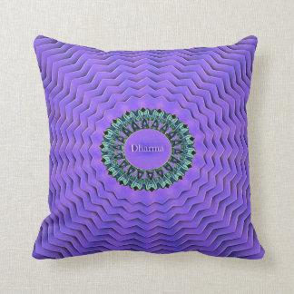 Pretty Purple Radiating Dharma Life Truths Cushion