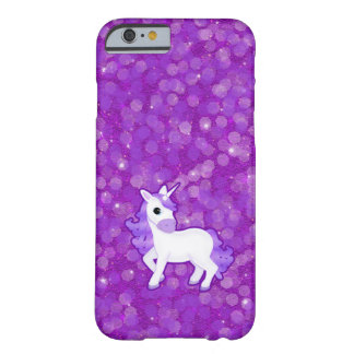 Pretty Purple Unicorn and Glitter iPhone 6 case Barely There iPhone 6 Case