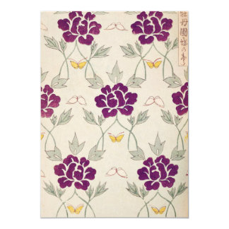 Pretty Purple Vintage Flower Card