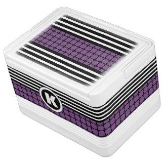 Pretty Purple, White & Black w/Monogram Cooler