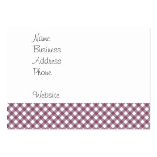 Pretty Purple White Plaid Pattern Gifts for Her Pack Of Chubby Business Cards