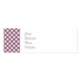 Pretty Purple White Plaid Pattern Gifts for Her Pack Of Skinny Business Cards