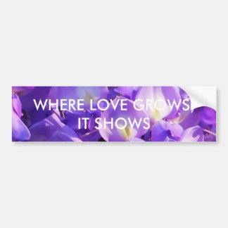 Pretty purple Wisteria flowers Bumper Stickers