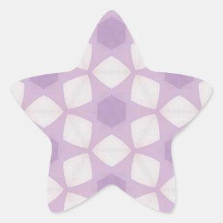 Pretty Purples Geometric Fractal Star Stickers