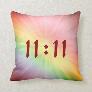 Pretty Rainbow 11:11 design Cushion