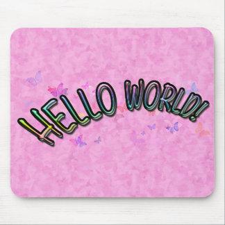 Pretty Rainbow Hello World Mousepads