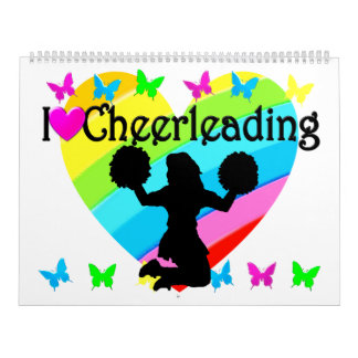 PRETTY RAINBOW I LOVE CHEERLEADING CALENDAR