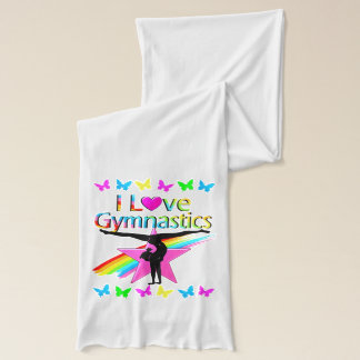 PRETTY RAINBOW I LOVE GYMNASTICS DESIGN SCARF