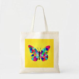 Pretty Rainbow Monarch Butterfly Canvas Bags