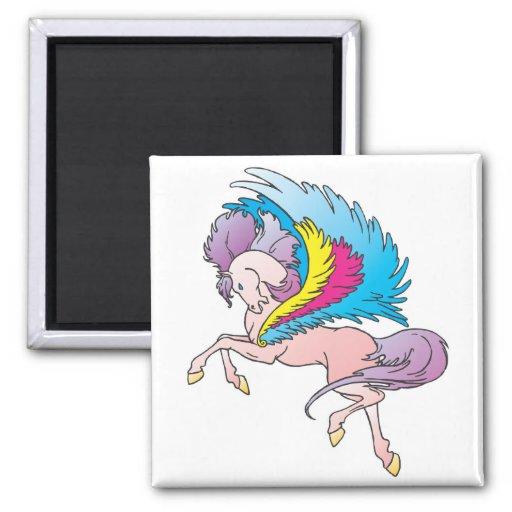 pretty rainbow pegasus magnet