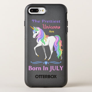 Pretty Rainbow Unicorns Are Born In July OtterBox Symmetry iPhone 7 Plus Case