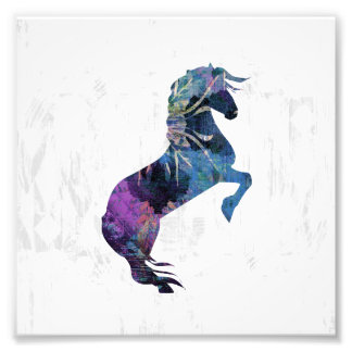 Pretty Rearing Fantasy Horse Art Photo Print
