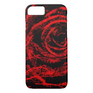 Pretty Red and Black Rose Design Phone Case