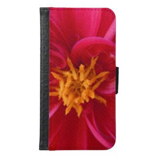Pretty Red Dahlia - Samsung Galaxy S6 Wallet Case